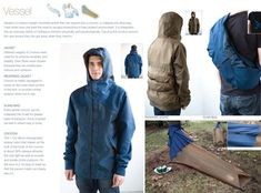 Not that I would wear a jacket that turns into a tent or a backpack, but I would certainly THINK about wearing a jacket that turns into a tent or a backpack. Brilliant idea until you start thinking about what happens when you get out of bed in the tent an
