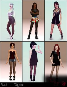 Sail 6 Tights by Rayne - Sims 3 Downloads CC Caboodle