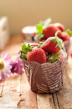 Day 349.365 - Strawberry (+2 in comments) by anshu_si, via Flickr