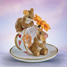 Steeped in Love Charming Tails Mouse Teacup Figurine Bradford Exchange • CAD…