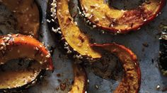 Put a savory spin on sweet acorn squash with cumin, coriander, and sesame seeds.