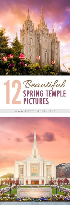 12 Stunning Spring Temple Pictures | In celebration of this beautiful new springtime, a time of renewal and new life, we've put together some wonderful spring temple pictures for you to enjoy!