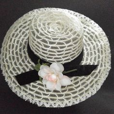 Vintage Floppy Hat White Sheer Flower Child Banded Bridesmaid Festival  Hippie  Unbranded  Floppy   ace632b9e7b7