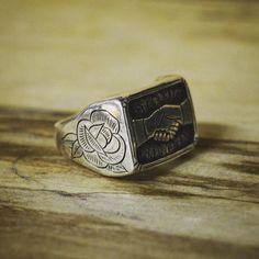 """Custom silver ring for Tyler #juliocuellarhandmade : @marcellatattoos"" Photo taken by @juliocuellarhandmade on Instagram, pinned via the InstaPin iOS App! http://www.instapinapp.com (01/25/2016)"