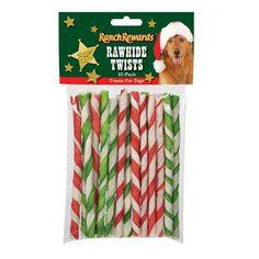 Ranch Rewards Holiday Rawhide Twists Dog Treat