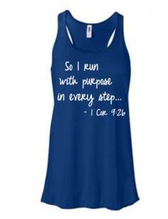 Love this! >> running tank - 1 Cor. inspirational: Running On The Wall