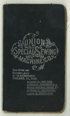 Union Special Sewing Machine Co. (Vintage Typography) via Julianna Swaney