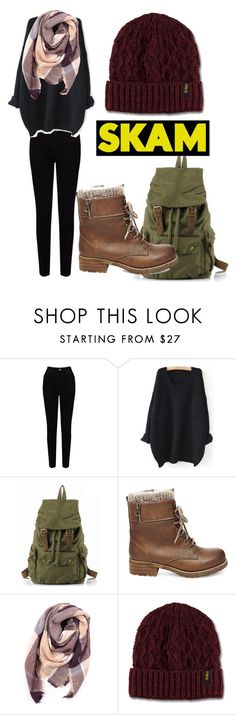 """Eva in Skam"" by captain-chan ❤ liked on Polyvore featuring EAST, WithChic, Steve Madden, Everest and Dr. Martens"