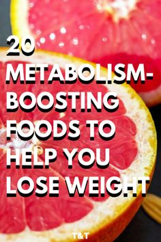 These 20 fat burning foods boost metabolism to help you lose weight faster. Learn the best foods and drinks to rev up metabolism for women and men. Losing weight from your belly and thighs is easier when you're eating the right meals and snacks. #fatloss #fatburning #weightlossfast #healthylifestyle