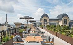 The Peninsula Paris rooftop terrace