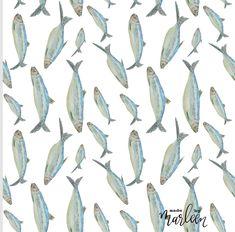 De directeur van het Nederlands visbureau wilde een nieuwe zijden blouse. Haringen watercolor procreate - repeat pattern in Affinity Designer Affinity Designer, Fabric Design, Blouse, Blouses, Woman Shirt, Hoodie, Top