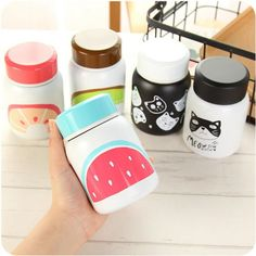 320ml Fashion Stainless Steel Water bottle Cartoon Thermos Cup Drinkware Fashion Sports Vacuum Flask Mug garrafa de agua
