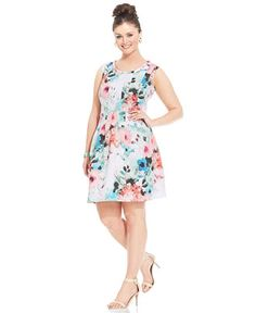 Plus Size Scuba Dress - Plus Size Dress