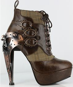 Oxford Ankle Boots Steampunk shoes and boots hades metropolis