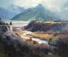 "Daily Paintworks - ""Crump Valley"" - Original Fine Art for Sale - © Richard Robinson"
