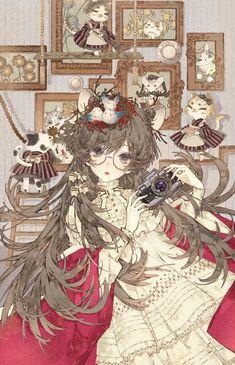 Anime Pic: A mare's nest Manga Girl, Anime Art Girl, Anime Girls, Anime Chibi, Kawaii Anime, Character Art, Character Design, Drawn Art, Image Manga