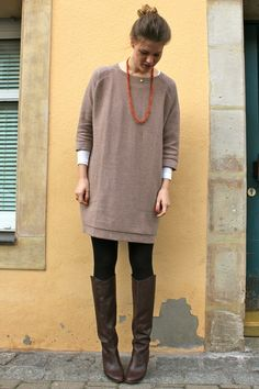 one more Fall outfit ...... cant have too many oversized sweaters.