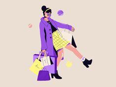 ~ shopaholic confessions ~ by studiokat on Dribbble Flat Illustration, Illustrations, Business Photos, San Luis Obispo, Vector Design, Confessions, Design Inspiration, Instagram, Modern