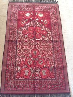 Turkish Muslim Lux Plush Regal Prayer Rug Carpet Janamaz Sejadah RED