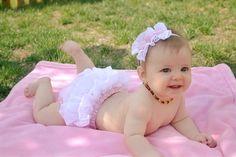 Baby girl ruffle bloomer and matching headband by culottecouture, $23.95