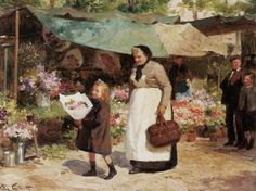 The Flower Market ~ Victor Gabriel Gilbert ~ (French: 1847-1933)