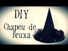 DIY: COMO FAZER CHAPÉU DE BRUXA para HALLOWEEN - Fantasia p/ Adulto - YouTube