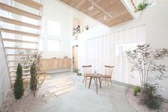 Simple Japanese Kofunaki House has Small Trees and Shrubs Growing Inside!   Inhabitat - Sustainable Design Innovation, Eco Architecture, Green Building