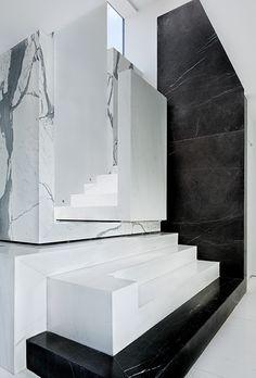 Schlesinger Associates Architects | Lassus Residence #staircases #stylepark #marble