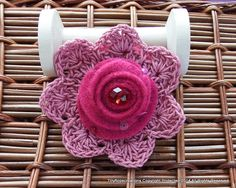 Crochet and felt brooch. Nw available via my Folksy or Etsy shop.x
