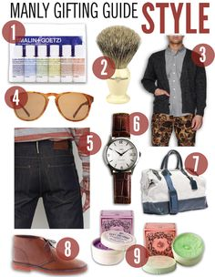 Holiday Gift Guide – For Men. NEED to get him looking at this. I wish I'd found this a little sooner.