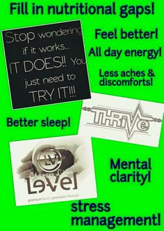 You will never know until you try and if you never try you will never know. #Thrive is the real deal! Pharmagrade premium nutrition for a premium Life!  http://txthriven.industryshift.com/