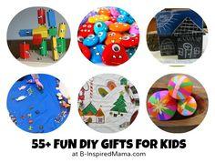 55 DIY Gifts for Kids – via CraftGossip.com