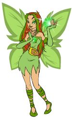 animated illusen earth faerie tossing juggling green glowing orb
