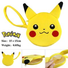 Pokemon Mini Purse Money Bag Girls Boys Love Zipper Money Pocket Wallet Japanese Anime Mini Bags Cell Phone Pocket