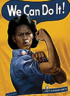 Yes, we can. Michelle Obama