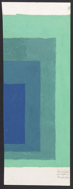 Color study (Homage to the Square), undated, by Josef Albers