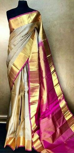 Find out about the best Elegant Designer Indian Saree including products like Latest Elegant Designer Saree plus Latest Elegant Designer Sari Blouse in which case Click visit link above for more info Kanjivaram Sarees, Kanchipuram Saree, Nalli Silk Sarees, Indian Attire, Indian Ethnic Wear, Indian Dresses, Indian Outfits, Modern Saree, Wedding Silk Saree