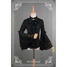 Neverland Ice Mirror Bell Sleeved Chiffon Blouse - CLOBBAONLINE