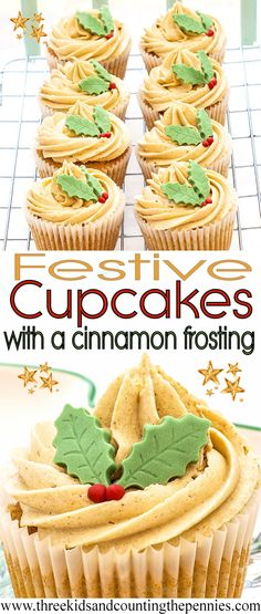 The mixed spice and cinnamon transform these from plain cupcakes to delicious and warming holiday delights.