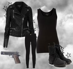 """Black Outfit"" by xxrandomnesslovexx on Polyvore"