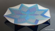 Iridescent star plates - LILLEY GLASS DESIGNS