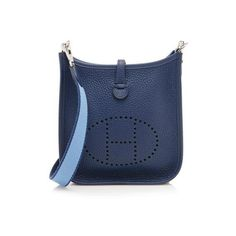 f32d4871637f Rental Hermes Taurillon Clemence Evelyne TPM Shoulder Bag (21.715 RUB) ❤  liked on Polyvore featuring bags