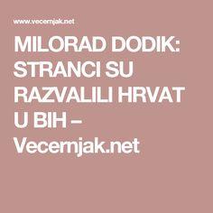 MILORAD DODIK: STRANCI SU RAZVALILI HRVAT U BIH – Vecernjak.net
