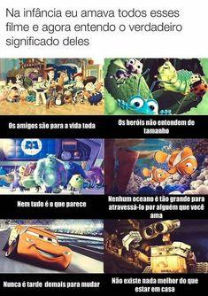 Caiu até uma lagrima Disney Day, Disney Love, Disney And Dreamworks, Disney Pixar, Funny Memes, Jokes, Memes Status, Kids On The Block, Disney Memes