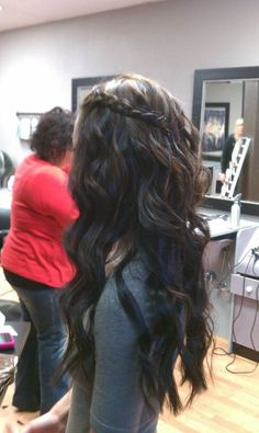 My hair colored, curled with a side braid by my favorite hair stylist, Britt Maier! Absolutly love it! :)