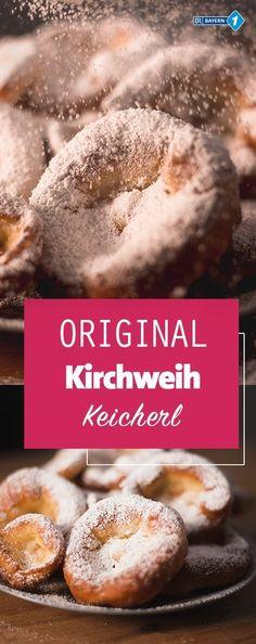 Kerwa-Küchla? Ausgezogene? Kniekichl? Oder Kirchweih-Keicherl? Egal wie Sie es nennen - mit diesem Rezept schmecken die Auszognen herrlich - und einfach nachzumachen ist es auch, Aber ohne Fett geht hier nichts! Baking Recipes, Cake Recipes, Austrian Cuisine, Food Porn, Fussy Eaters, Fun Desserts, Cravings, Food Photography, Sweet Treats