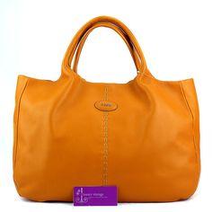 Tod's 24hour Bag Orange Color Leather Good Condition Ref.code-(KELC-21) More Information Pls Email  (- luxuryvintagekl@ gmail.com )