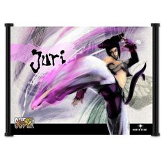 Super Street Fighter IV 4 Juri Videogame Wall Scroll Fabric Poster - 42 x 32 inches @ niftywarehouse.com #NiftyWarehouse #StreetFighter #VideoGames #Gaming