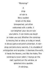 Image detail for -Raindrop Concrete Poem