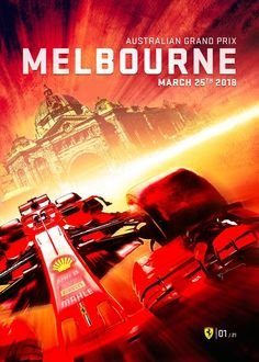 Stunning scuderia ferrari poster for the 2018 australian grand prix. ferrari has taken eleven victories at the event, the first in 1957 and the last in 2017 Abu Dhabi, Nascar, F1 Posters, Travel Posters, Event Posters, Stock Car, Automobile, Australian Grand Prix, Ferrari F1